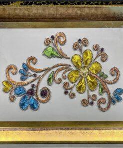 gold cerceveli filiyografi tepsi